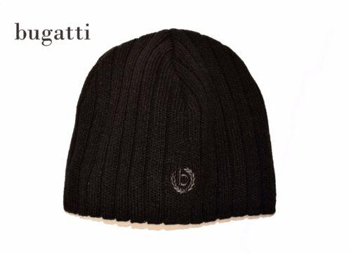 BUGATTI Strickmütze *Winter Mütze gerippt*mit Windstopper *Beanie black *NEU