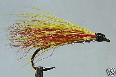 10 x Mouche de peche Streamer Blob Olive BILLE H8//10//12 mosca fly tying truite
