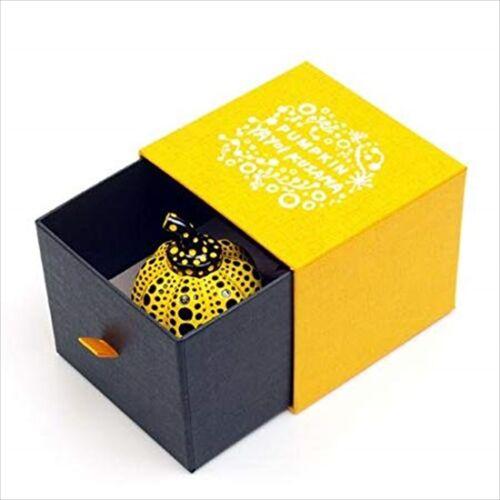YAYOI KUSAMA Pumpkin Artist Paperweight Object Sculpture Yellow JAPAN F//S