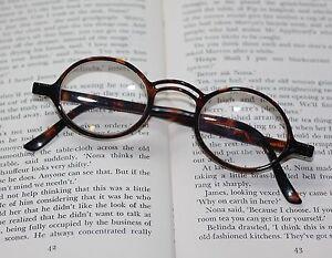 e285dbdf5befc Image is loading High-Power-Reading-Glasses-Round-Frame-Polished-Tortoise-