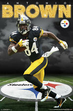 6f0784e2f26 ANTONIO BROWN Pittsburgh Steelers Official NFL Football Action Wall POSTER
