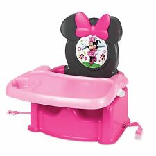 Minnie Mouse Booster Seat High Chair Food Tray Feeding Girls