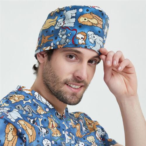 2019 Men Doctor//Nurse Printing  Scrub Cap Surgery Medical Hat Operation Caps OPD