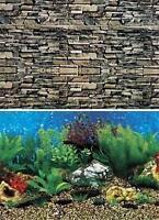 Penn-plax Hawaii Blue Shale Wall Double Sided Aquarium Background 30 H X 36