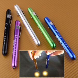 LED Penlight Pen Light Torch with Pupil Gauge Emergency Medical Doctor Nurse