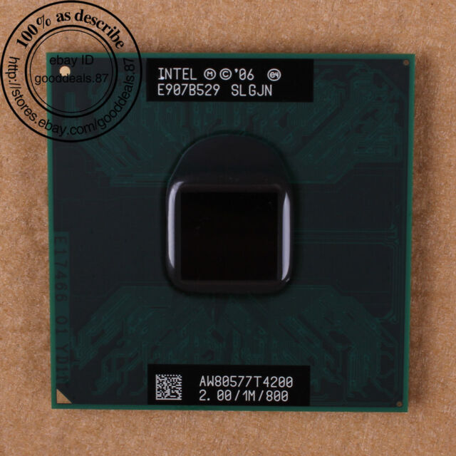 Intel Pentium T4200 - 2 GHz (AW80577GG0411MA) SLGJN Dual-Core CPU 800 MHz