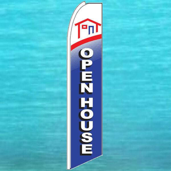 FOR LEASE SUPER BANNER FLAG Real Estate Advertising Feather Swooper Flutter Sign