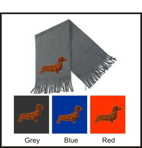 Dachshund Smooth Haired Scarf Perfect Gift Embroidered by Dogmania