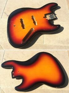 Maya jazz bass Corps Basse MIJ Japan 70's 3TSB sunburst electric bass guitar