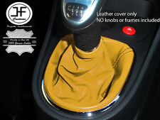 YELLOW REAL LEATHER MANUAL GEAR STICK GAITER FITS SEAT LEON 1P 2005–2011