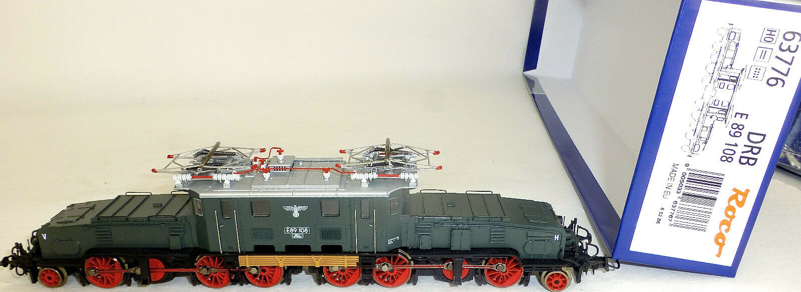 89 drb crocodilo e locomotora nem kkk dss roco 63776 h0 nach nuevo emb.orig.