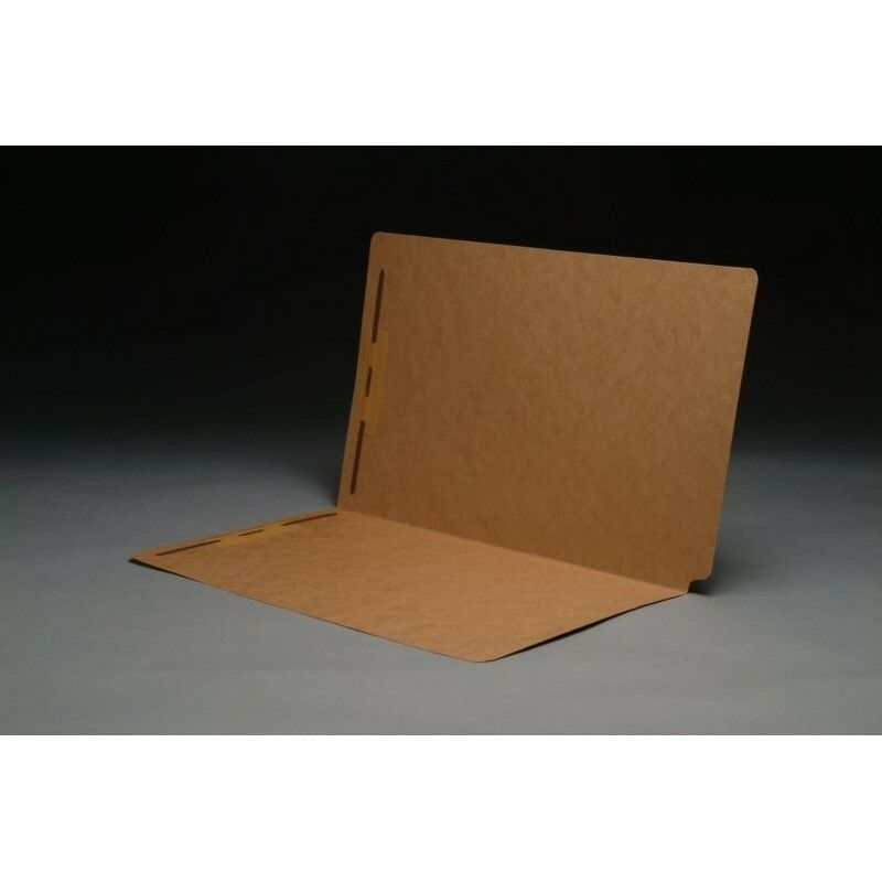 17 pt Brown Kraft Folders, SFI Compatible, Full Cut END TAB, Legal Size, Fastene