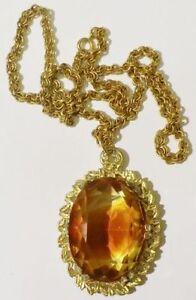 collier-vintage-couleur-or-gros-pendentif-de-verre-facette-couleur-citrine-4520