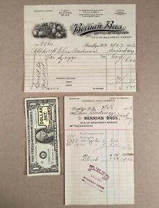 Brooklyn-NY-1913-BERRIAN-BROS-COMMISSION-MERCHANTS-Pictorial-Billhead-More