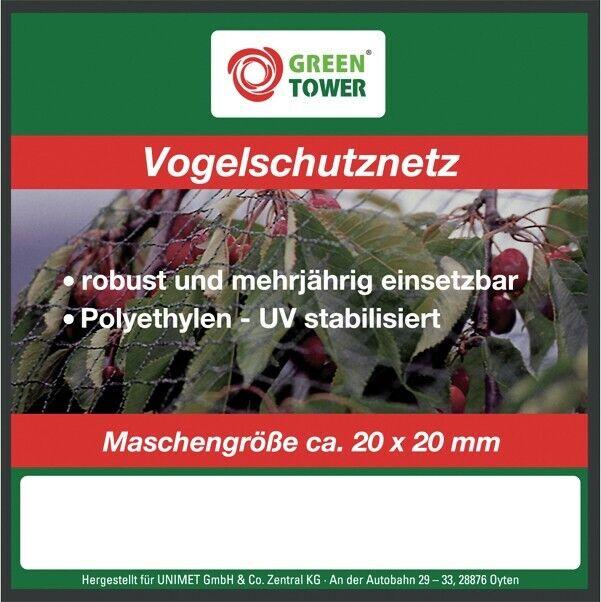Jardín pájaro red red de protección red jardín árbol frutal red kirschbaumnetz 10 x 4 m nuevo