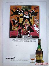 1979 BISQUIT Cognac 'The Guest #1' Advert - Jensen after Bateman Series Print AD