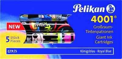 5x Pelikan Griffix Grandi-cartucce Inchiostro 4001 Con Motivo Design