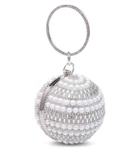 Womens Silver Clutch Bag Ladies Wedding Bridal Prom Party Purse Evening Handbag