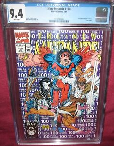 NEW-MUTANTS-100-MARVEL-COMIC-1983-first-series-1st-Appearance-X-Force-CGC-9-4