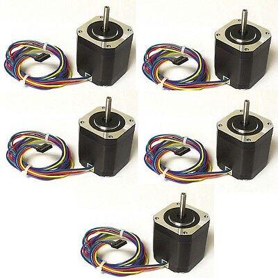 5pcs NEMA17 Stepper Motor,76 oz-in - DIY CNC, Robot, Reprap, Makerbot, Arduino,