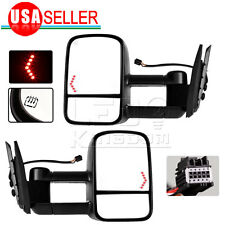 for 07-13 Chevy Silverado 1500 2500 3500 Tow Mirrors Power Heated LED Signals