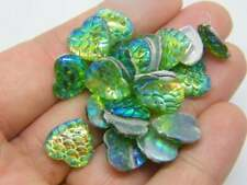 100 Mermaid scale white AB cabochon seal resin