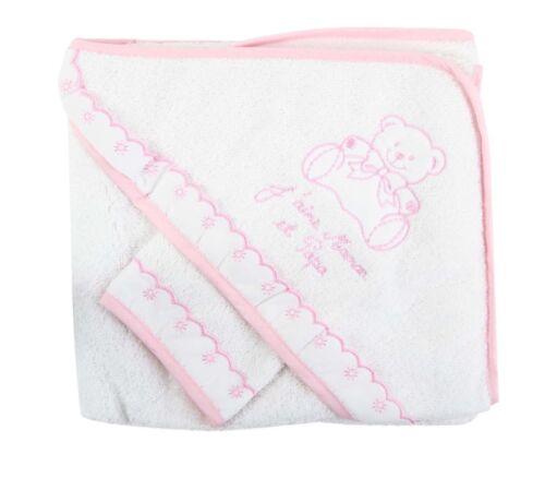 ensemble bebe Cape avec gant BCRSJPM  idee cadeau NISSANOU  Sortie bain bébé