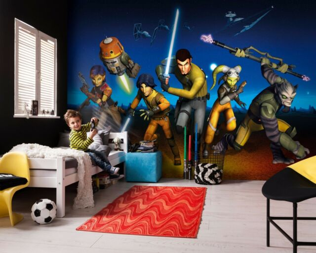 Giant Wallpaper 368x254cm Star Wars Rebels Kids Boys Agers Room Wall Mural