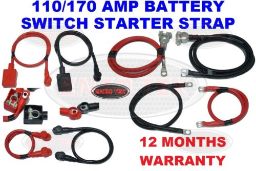 170 Amp Heavy Duty Cable Live Earth Strap Battery Lead Negative For Car Van