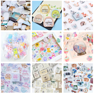 46PCS-Kawaii-Stamps-Stickers-Stationery-DIY-Scrapbooking-Diary-Stickers-Set-Lots