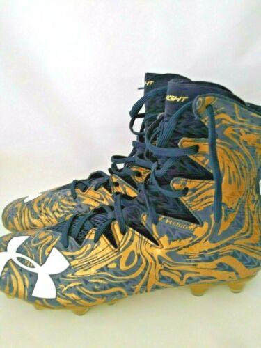 13.5 UNDER ARMOUR UA Highlight Lux MC Football Gold /& Navy Blue color Cleats Sz