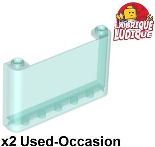 2x Windscreen 1x6x3 Lego dämpfer Wind Scheibe Schild Trans Light Blau 64453