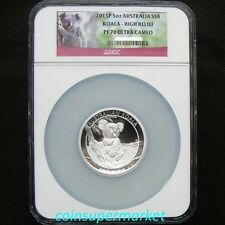2015 The Australia Koala 5oz Silver Proof High Relief Coin NGC PF 70 Perth OGP!