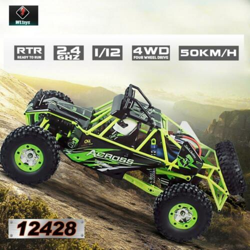 US Wltoys 12428 1//12 2.4G 4WD 50km//h Electric Brushed Off-road Crawler RC Car
