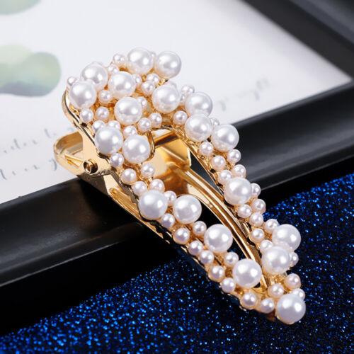 Mode Haarklammern Haarklammer der Ente Perle Haarnadeln Tropfenform Haargriffe