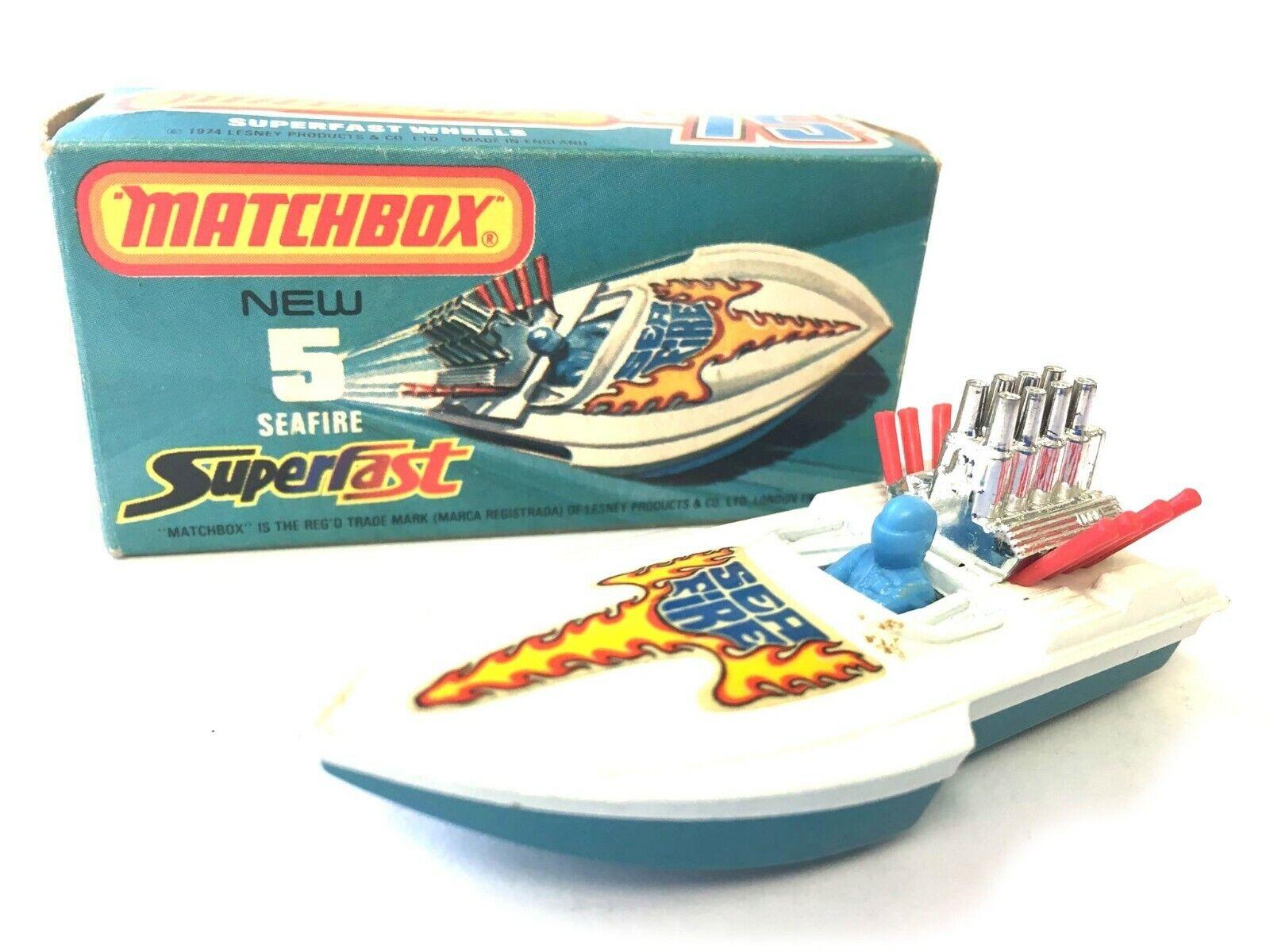 MATCHscatola SUPERFAST 5 MAI GIOautoE COL FUOCO VINTAGE nella scatola originale