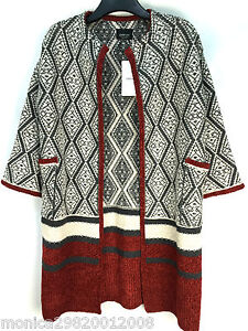 38f4bb82c6f Image is loading ZARA-KNITTED-WOOL-CARDIGAN-COAT-SIZE-MEDIUM-NEW-