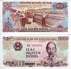 Image Is Loading Vietnam 2000 Dong Banknote World Paper Money Unc