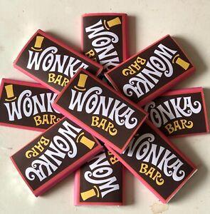 Details About 30 Mini Wonka Bar And Golden Ticket 19g Replica Chocolate Bar Roald Dahl Charlie
