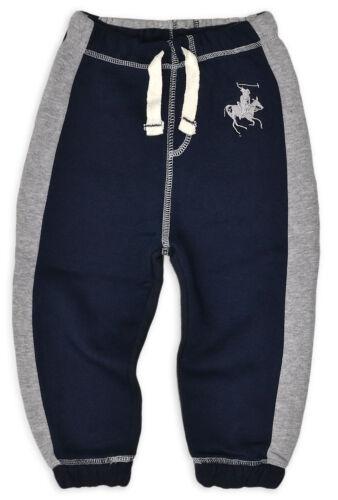Baby Boys Jogging Bottoms Infant Fleece Tracksuit Pants New Navy Grey 6-12 Month