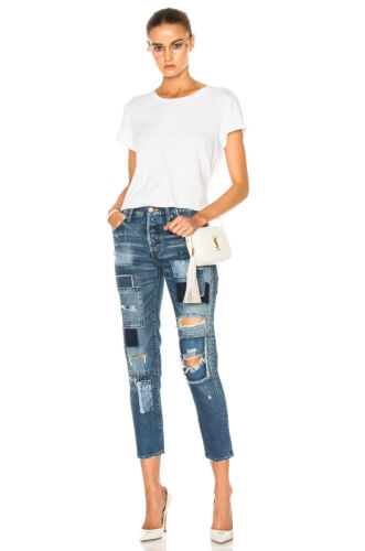 Button Jeans 388 Skinny Distress Vintage Denim Fly Moussy Patched Tapered 1130 txC41PwSq