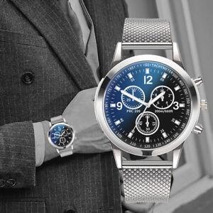 2982538f550 Details about Militares lujo gente Acero inoxidable Análogo cuarzo Reloj de  Pulsera Hombre New