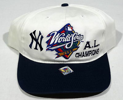 NEW 1998 VTG 90S NEW YORK YANKEES AL CHAMPIONS SNAPBACK HAT TWINS NOS NYC MLB OG