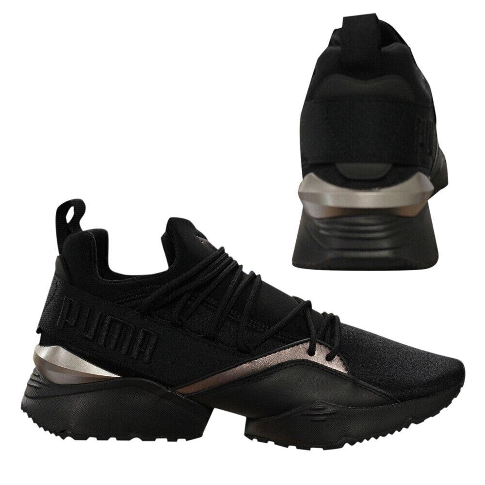 womens black puma trainers
