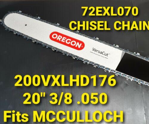 """20/"""" Oregon MCCULLOCH PRO MAC 610 Versacut Bar Chain Chainsaw 3//8 050 200VXLHD176"""