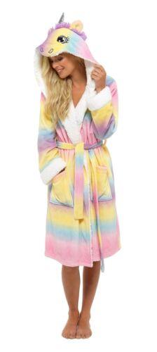 Girls Childrens Soft /& Cosy Unicorn Dressing gown Twosie Pyjamas Ages 5-13 years