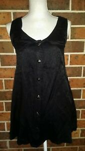 MAURIE-AND-EVE-Platinum-Black-Mini-Dress-Long-Top-Size-10
