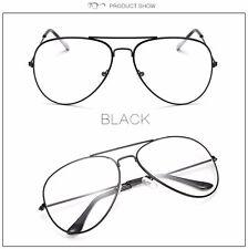 4f47eb33ceb item 1 Vintage Classic Fashion Pilot Aviator Sunglasses Clear Lens Glasses  Geek Frames -Vintage Classic Fashion Pilot Aviator Sunglasses Clear Lens  Glasses ...