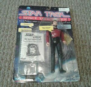 STAR TREK ~ COMMANDER WILLIAM RIKER ACTION FIGURE ~ SPACE TALK SERIES 1995 NEW
