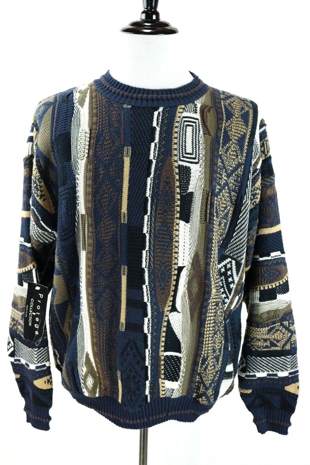 Taggio NWT Predege Textured Cosby Biggie Hip Hop 3D Sweater USA Acrylic Mens 2XL